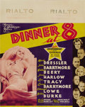 "Movie Posters:Comedy, Dinner at Eight (MGM, 1933). Jumbo Window Card (22"" X 28""). On thisjumbo window card for one of MGM's all star extravaganza..."
