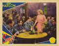 "Movie Posters:Drama, Suzy (MGM, 1936). Lobby Card (11"" X 14""). Beautiful lobby cardfeatures a gorgeous Jean Harlow with Cary Grant, who plays an..."