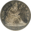 Seated Half Dollars, 1865 50C AU58 PCGS. PCGS Population (6/27). NGC Census: (4/32).Mintage: 511,400. Numismedia Wsl. Price for NGC/PCGS coin i...