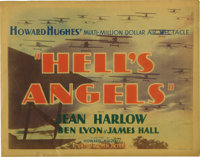 """Hell's Angels (United Artists, 1930). Title Lobby Card (11"""" X 14""""). Howard Hughes' epic production of WWI figh..."""
