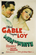 "Movie Posters:Drama, Men In White (MGM, 1934). One Sheet (27"" X 41""). This sleeper of aromantic drama was based on the popular stage play by Sid..."