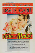 "Movie Posters:Comedy, Cain and Mabel (Warner Brothers-First National, 1936). One Sheet (27"" X 41""). Marion Davies and Clark Gable were reteamed in..."