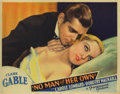 "Movie Posters:Film Noir, No Man of Her Own (Paramount, 1932). Lobby Cards (2) (11"" X 14"").The only film in which Clark Gable and his future wife Car...(Total: 2 Items)"