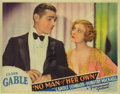 "Movie Posters:Film Noir, No Man of Her Own (Paramount, 1932). Lobby Cards (2) (11"" X 14"").Clark Gable and his future wife Carole Lombard star in the...(Total: 2 Items)"
