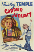 "Movie Posters:Drama, Captain January (Twentieth Century Fox, 1936). One Sheet (27"" X 41""). Style A. The greatest child actor of the 20th century,..."