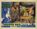 "Movie Posters:Western, Haunted Gold (Warner Brothers - First National, 1932). Lobby Card (11"" X 14""). This great card with John Wayne fighting thre..."
