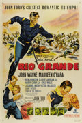 "Movie Posters:Western, Rio Grande (Republic, 1950). One Sheet (27"" X 41""). John Forddirected this romantic action film set just after the Civil Wa..."