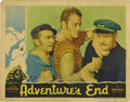 """Movie Posters:Adventure, Adventure's End (Universal, 1937). Lobby Card (11"""" X 14""""). JohnWayne sails on board a whaler in the South Seas captained by..."""