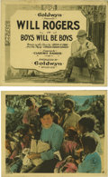 """Movie Posters:Comedy, Boys Will Be Boys (Goldwyn, 1921). Mini Lobby Card Set of 9 (8"""" X10""""). This historic lobby card set features a very nice ti...(Total: 9 Items)"""