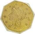 California Fractional Gold, 1863 G$1 Octag Liberty BG-1307--Improperly Cleaned--NCS. AUDetails. ...
