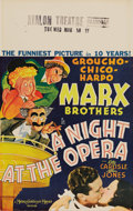 "Movie Posters:Comedy, A Night at the Opera (MGM, 1935). Window Card (14"" X 22""). In oneof the Marx Brothers zaniest movies of their careers, the ..."