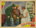 "Movie Posters:Comedy, A Day At The Races (MGM, 1937). Lobby Card (11"" X 14""). Thissought-after Marx Brothers card has slightly rounded corners, a..."