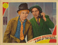 "Movie Posters:Comedy, A Day At The Races (MGM, 1937). Lobby Card (11"" X 14""). Thiswonderful card, featuring Harpo and Chico, two of the three Mar..."