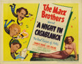 """Movie Posters:Comedy, Night in Casablanca, A (United Artists, 1946). Title Lobby Card(11"""" X 14""""). Very nice Title Card for the last official Marx..."""