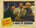 "Movie Posters:Comedy, Night in Casablanca, A (United Artists, 1946). Lobby Cards (2) (11""X 14""). Here's a shot of Groucho and his brothers that's... (Total:2 Items)"