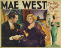 "Movie Posters:Comedy, I'm No Angel (Paramount, 1933). Lobby Card (11"" X 14""). This wasthe first and last time co-stars Mae West and Cary Grant wo..."