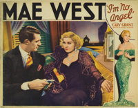 """I'm No Angel (Paramount, 1933). Lobby Card (11"""" X 14""""). This was the first and last time co-stars Mae West and..."""