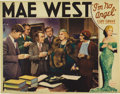 """Movie Posters:Comedy, I'm No Angel (Paramount, 1933). Lobby Card (11"""" X 14""""). Thisgorgeous card featuring Mae West with a bevy of reporters shows..."""