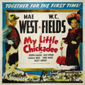 """Movie Posters:Comedy, My Little Chickadee (Universal, 1940). Six Sheet (81"""" X 81""""). MaeWest is a woman of """"questionable repute"""" who mistakes con ..."""