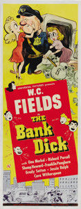 "Movie Posters:Comedy, The Bank Dick (Universal, 1940). Insert (14"" X 36""). W.C. Fields made one of his comedy classics as a bank guard who has to ..."