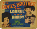 "Movie Posters:Comedy, The Devil's Brother (MGM, 1933). Title Lobby Card (11"" X 14""). Set in eighteenth century Northern Italy, this period comedy ..."