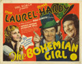 """Movie Posters:Comedy, The Bohemian Girl (MGM, 1936). Title Lobby Card (11"""" X 14""""). This madcap comedy starring Stan Laurel, Oliver Hardy and Thelm..."""