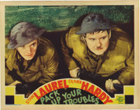 """Pack Up Your Troubles (MGM, 1932). Lobby Card (11"""" X 14""""). When Uncle Sam put out the call to arms, did he rea..."""