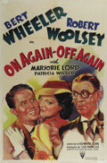 """Movie Posters:Comedy, On Again -- Off Again (RKO, 1937). One Sheet (27"""" X 41""""). In the1930's, RKO's answer to the Marx Brothers was the comedy te..."""