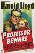 """Movie Posters:Comedy, Professor Beware (Paramount, 1938). One Sheet (27"""" X 41""""). Thegreat Harold Lloyd and Phylis Welch star in this slapstick co..."""