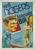 """Movie Posters:Comedy, Ambassador Bill (Fox, 1931). One Sheet (27"""" X 41""""). Will Rogers isrich cattle rancher Bill Harper, who has been appointed a..."""