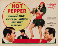 "Hot Pepper (Fox, 1933). Half Sheet (22"" X 28""). This was the fifth and last teaming of Victor McLaglen and Edm..."