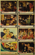 "Movie Posters:Comedy, Women of All Nations (Fox, 1931). Lobby Card Set of 8 (11"" X 14"").Victor McLaglen and Edmund Lowe are just a couple of guys...(Total: 8 Items)"