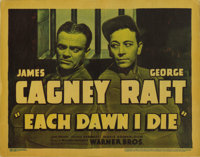 "Each Dawn I Die (Warner Brothers, 1939). Title Lobby Card (11"" X 14""). Reporter James Cagney suddenly finds hi..."