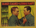 "Movie Posters:Thriller, Each Dawn I Die (Warner Brothers, 1939). Lobby Card (11"" X 14"").This great prison film was the first pairing of James Cagne..."