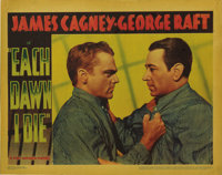 "Each Dawn I Die (Warner Brothers, 1939). Lobby Card (11"" X 14""). This great prison film was the first pairing..."