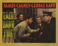 """Movie Posters:Thriller, Each Dawn I Die (Warner Brothers, 1939). Lobby Cards (2) (11"""" X 14""""). These lobby cards have pinholes in the borders, small ... (Total: 2 Items)"""