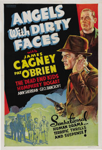 """Angels With Dirty Faces (Warner Brothers, 1938). One Sheet (27"""" X 41""""). James Cagney, Pat O'Brien, Humphrey Bo..."""