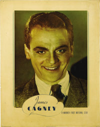 """James Cagney Personality Poster (Warner Brothers, 1938). Half Sheet (22"""" X 28""""). James Cagney was at the top o..."""