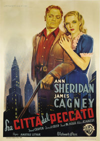 "City for Conquest (Warner Brothers, 1947 Post War Release). Italian 2-Folio (39"" X 55""). James Cagney makes it..."