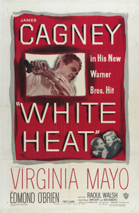 "White Heat (Warner Brothers, 1949). One Sheet (27"" X 41""). A killer (James Cagney) with an Oedipus complex lea..."