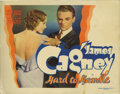 "Movie Posters:Comedy, Hard To Handle (Warner Brothers, 1933). Title Lobby Card (11"" X14""). James Cagney plays a typical Cagney hero, fast-talking..."