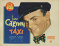 "Movie Posters:Crime, Taxi (Warner Brothers, 1932). Title Lobby Card (11"" X 14""). JamesCagney is a New York City cab driver terrorized by a monop..."