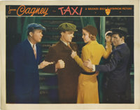 "Taxi (Warner Brothers, 1932). Lobby Card (11"" X 14""). This gorgeous lobby pictures James Cagney as Irish cab d..."