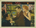 "Movie Posters:Crime, Taxi (Warner Brothers, 1932). Lobby Card (11"" X 14""). JamesCagney's self-assured presence dominates this scene with Loreeta..."