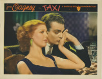 "Taxi (Warner Brothers, 1932). Lobby Card (11"" X 14""). This gorgeous portrait card of James Cagney and co-star..."