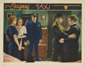 """Movie Posters:Crime, Taxi (Warner Brothers, 1932). Lobby Card (11"""" X 14""""). This very nice lobby card featuring James Cagney and Loretta Young has..."""