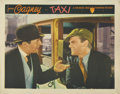 "Movie Posters:Crime, Taxi (Warner Brothers, 1932). Lobby Card (11"" X 14""). Great closeupof James Cagney in his taxicab from this early Warner Br..."