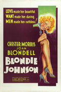 "Movie Posters:Drama, Blondie Johnson (Warner Brothers, 1933). One Sheet (27"" X 41""). Blondie Johnson (Joan Blondell) takes up a life of crime aft..."