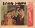 "Movie Posters:Drama, Blondie Johnson (Warner Brothers, 1933). Lobby Card (2) (11"" X14""). Joan Blondell was a screen star for almost fifty years ...(Total: 2 Items)"