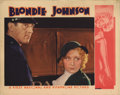 "Movie Posters:Drama, Blondie Johnson (Warner Brothers, 1933). Lobby Cards (2) (11"" X14""). These two lobby cards show Joan Blondell with both ste...(Total: 2 Items)"